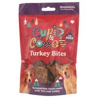 Rosewood Cupid & Comet Turkey Bites for Dogs 100g big image