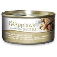 Applaws Senior Cat Food in Jelly 24 x 70g Tins (Tuna with Sardines) big image