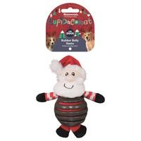 Rosewood Cupid & Comet Tough Rubber Belly Santa Dog Toy big image