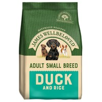 James Wellbeloved Adult Dog Small Breed Dry Food (Duck & Rice) big image