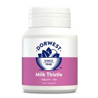 Dorwest Milk Thistle Tablets for Dogs and Cats big image