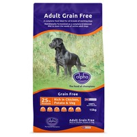 Alpha Adult Grain Free Dry Dog Food 15kg big image