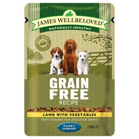 James Wellbeloved Grain Free Pouches for Puppy/Junior Dogs big image