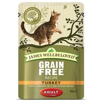 James Wellbeloved Adult Cat Grain Free Wet Food Pouches (Turkey) big image
