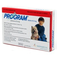 Program Tablets 67.8mg Red for Small Dogs (Pack of 6) big image