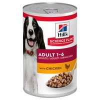 Hills Science Plan Adult 1-6 Medium Breed Wet Dog Food Tins (12 x 370g) big image