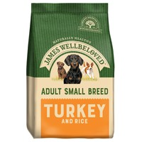James Wellbeloved Adult Dog Small Breed Dry Food (Turkey & Rice) big image