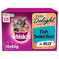Whiskas 2-12mths Pure Delight Fish Selection in Jelly Kitten Pouches big image