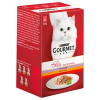 Purina Gourmet Mon Petit Wet Cat Food Pouches (Game, Liver & Beef) big image