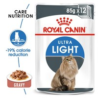 Royal Canin Ultra Light Care Pouches in Gravy Adult Cat Food big image