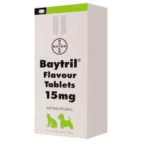 Baytril 15mg Flavoured Tablets for Cats and Dogs big image