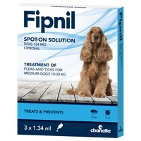Fipnil Spot On Flea and Tick Treatment for Medium Dogs (3 Pipettes) big image