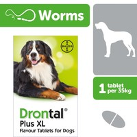 Drontal XL for Dogs Worming Tablets big image