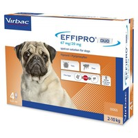 Effipro Duo Spot-On Solution for Small Dogs (4 Pipettes) big image