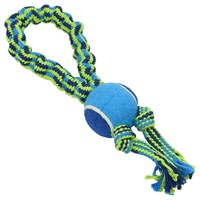 Buster Bungee Double Knots Rope Toy with Tennis Ball big image