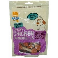 Good Boy Waggles & Co Chewy Chicken Dumbbells Dog Treats 100g big image