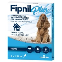 Fipnil Plus Spot-On Solution for Medium Dogs (3 Pipettes) big image