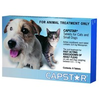 Capstar Flea Tablets for Small Dogs and Cats (Pack of 6) big image
