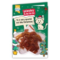 Good Girl Pawsley Meaty Treats Christmas Card for Cats big image