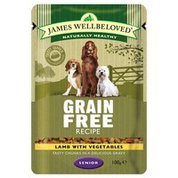 James Wellbeloved Senior Dog Grain Free Wet Food Pouches big image