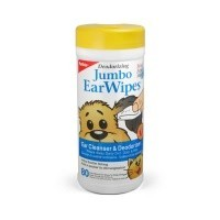 Petkin Jumbo Ear Wipes for Cats & Dogs big image