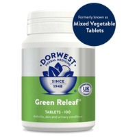 Dorwest Green Releaf Tablets for Dogs and Cats (Pot of 100) big image