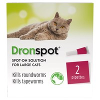 Dronspot Spot-On Worming Solution for Large Cats big image