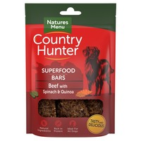 Natures Menu Country Hunter Superfood Bars (Beef with Spinach & Quinoa) big image