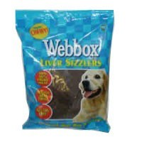Webbox Liver Sizzlers Treats for Dogs big image
