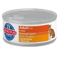 Hills Science Plan Optimal Care Adult Cat Food Tins 24 x 82g (Chicken) big image