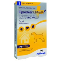 FiproClear Combo Spot-On Solution for Small Dogs big image