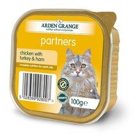 Arden Grange Partners Cat Food 16 x 100g Tins (Chicken with Turkey & Ham) big image