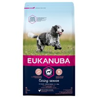 Eukanuba Caring Senior Medium Breed Dog Food (Chicken) 12kg big image