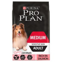 Purina Pro Plan OptiDerma Sensitive Skin Medium Adult Dog Food (Salmon) big image