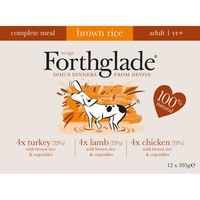 Forthglade Complete with Brown Rice Dog Food Multipack 12 x 395g  (Chicken/Lamb/Turkey) big image