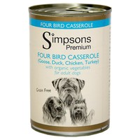 Simpsons Premium Adult Wet Dog Food (Four Bird Casserole) big image