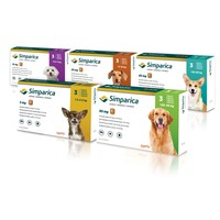 Simparica Flea and Tick 120mg Chewable Tablets (Pack of 3) big image
