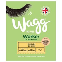Wagg Complete Worker Wet Dog Food Trays (Chicken Dinner) big image