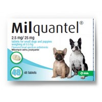 Milquantel 2.5mg/25mg Tablets for Small Dogs and Puppies big image