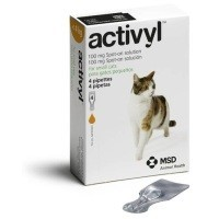 Activyl Spot-On Solution for Small Cats (4 x 100mg Pipettes) big image