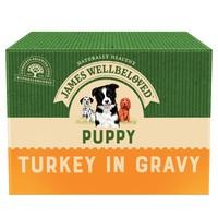 James Wellbeloved Puppy Wet Dog Food Pouches (Turkey & Rice) big image