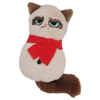 Rosewood Grumpy Cat Plush Snowman Soft Toy for Cats big image