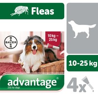 Advantage 250 Flea Treatment for Dogs 4 Pipettes big image