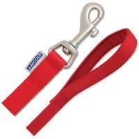 Ancol Heritage Padded Nylon Red Dog Lead - Large big image