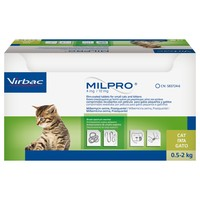 Milpro 4mg/10mg Worming Tablets for Small Cats and Kittens big image