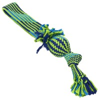 Buster Squeak Tugger Rope Toy with Vinyl Ball big image