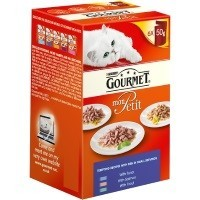 Purina Gourmet Mon Petit Wet Cat Food 6 x 50g Pouches (Tempting Recipes) big image