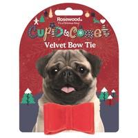 Rosewood Cupid & Comet Luxury Velvet Bow Tie for Dogs big image
