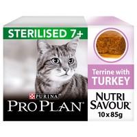 Purina Pro Plan NutriSavour Sterilised 7+ Adult Cat Wet Food (Turkey) big image