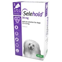 Selehold 30mg Spot-On Solution for Toy Dogs (3 Pipettes) big image